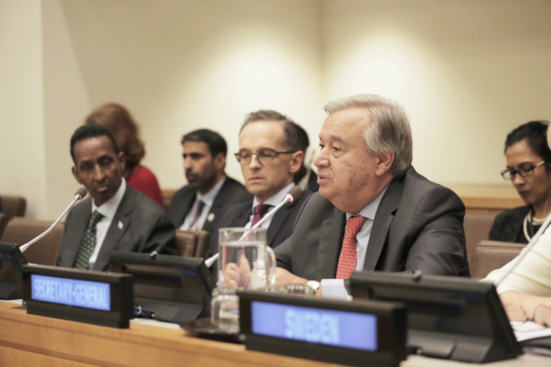 UN Secretary-General strong on support to early humanitarian action at CERF's first ever UN General Assembly event
