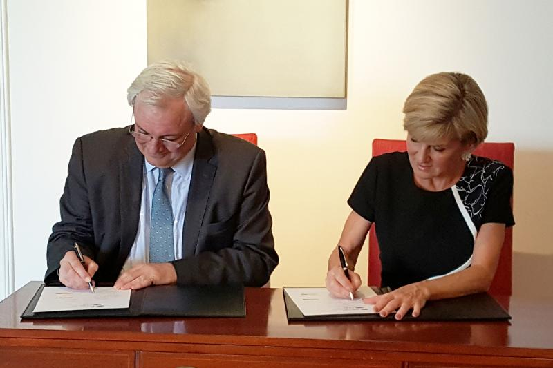 Australia signs multi-year agreement with CERF committing A$11 each year until 2020