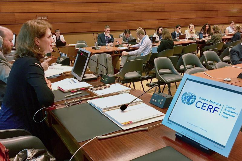 CERF secretariat urges member states to step up funding at annual briefing in Geneva